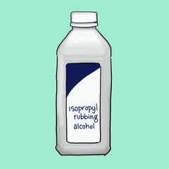 drawing of isopropyl rubbing alcohol