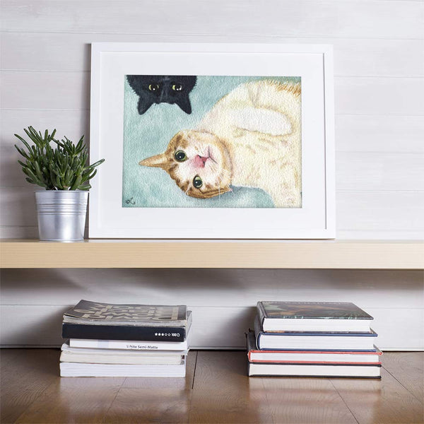 watercolor cat portraits pet gift pet memento