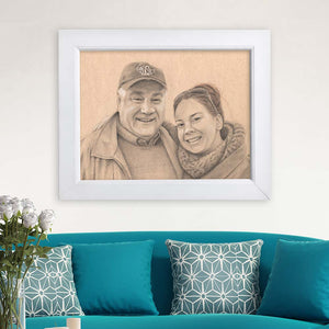 custom family art realistic portrait drawing family gift momento family photo keepsake