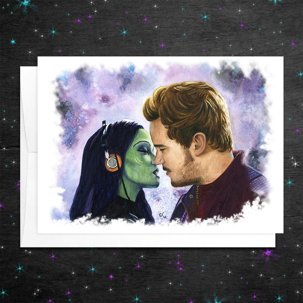 star lord and gamora pelvic sorcery card guardians of the galaxy valentine