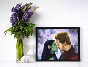 guardians of the galaxy movie poster gotg art pelvic sorcery star lord and gamora art poster