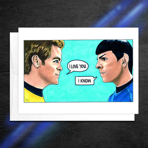 i love you i know star trek star wars mash up card kirk and spock love