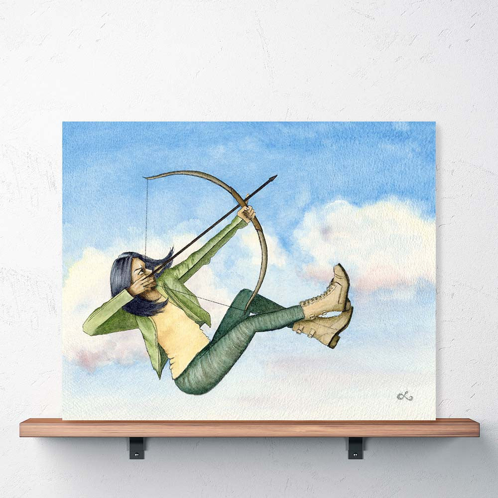 strong-woman-poster-female-grit-perserverance-archer-girl-aim-high