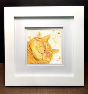 watercolor-pet-portrait-custom-cat-art-cat-painting-cat-watercolor-pet-lovers-gift-pet-portrait-gift-cat-lady-gift-sleepy-cat-real-life-garfield-framed-pet-art-gift