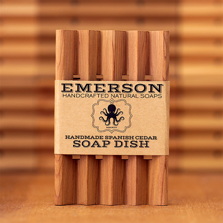 Handmade Spanish Cedar Soap Dish sold by Emerson Soaps