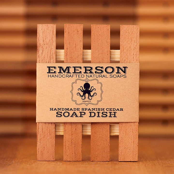 Low Profile Cedar Soap Dish