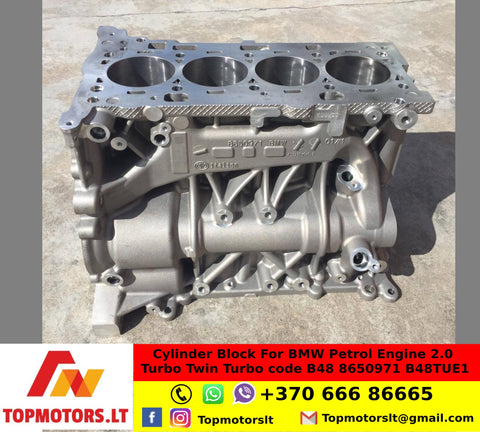 Cylinder Block For BMW Petrol Engine 2.0 Turbo Twin Turbo code B48 8650971 B48TUE1