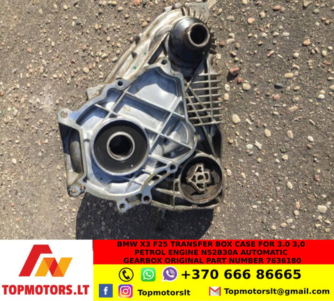 BMW X3 F25 TRANSFER BOX CASE FOR 3.0 3,0 PETROL ENGINE N52B30A AUTOMATIC GEARBOX ORIGINAL PART NUMBER 7636180