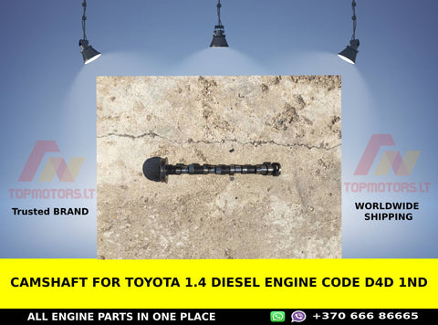Camshaft for Toyota 1.4 diesel engine code d4d 1nd