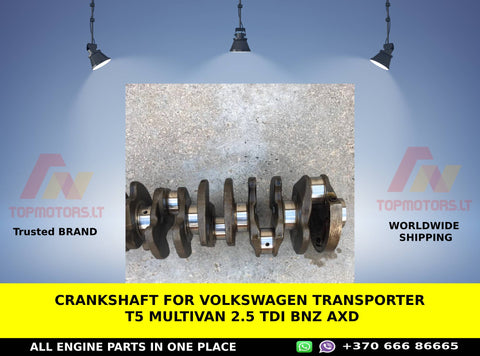 CRANKSHAFT FOR VOLKSWAGEN TRANSPORTER T5 MULTIVAN 2.5 TDI BNZ AXD