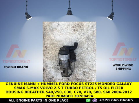 Genuine mann + hummel ford focus st225 mondeo galaxy smax s-max Volvo 2.5 t turbo petrol / T5 Oil Filter Housing breather S40,V50, C30, C70, v70, S80, S60 2004-2012 part number 30788494