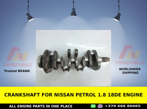 Crankshaft for Nissan petrol 1.8 18DE engine