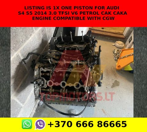 Listing is 1x one Piston for AUDI S4 S5 2014 3.0 TFSI V6 PETROL CAK CAKA ENGINE COMPATIBLE WITH CGW