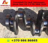 Crankshaft For Audi Volkswagen Skoda Seat VW 2.0 TDI 38AB 101B
