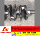 Crankshaft For Mitsubishi Outlander 2.3 Diesel Engine Code 4N14 STD STANDARD