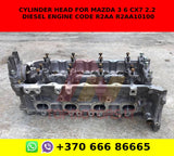 Cylinder head for Mazda 3 6 cx7 2.2 diesel engine code r2aa r2aa10100