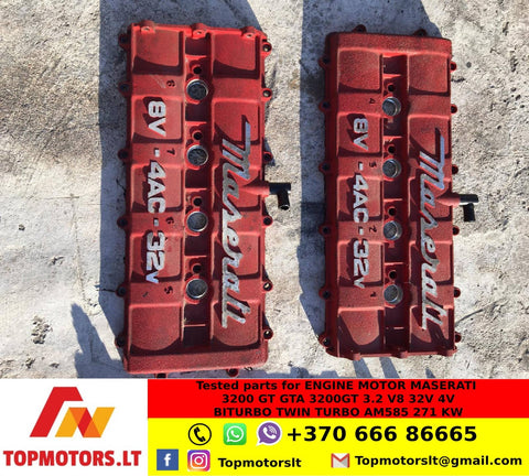 Valve rocker cover / set of covers for MASERATI ENGINE MOTOR 3200 GT GTA 3200GT 3.2 V8 32V 4V BITURBO TWIN TURBO AM585 271 KW PART NUMBERS 479.00.05.02 / 479.00.04.02 / 479000502 , 479000402