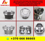Set of 8 pcs Pistons For Mercedes Benz W221 S500 with 4.7 V8 CGI Petrol 278.932 M278 278 GL CLASS GL450 270KW MB MERCEDES-BENZ 8x Piston
