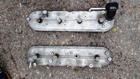 GENUINE ENGINE SET OF VALVE COVER LEFT RIGHT 12611059 12611021 GM 6.2 PETROL V8 Small Block LS3 CHEVROLET CHEVY CORVETTE