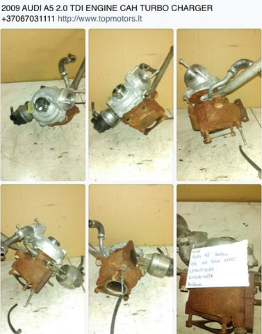 2009 AUDI A5 2.0 TDI ENGINE CAH TURBO CHARGER 03L145702E