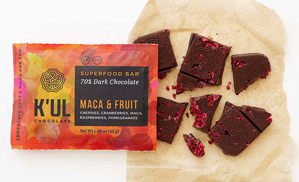 K'ul Chocolate Maca & Fruit bar