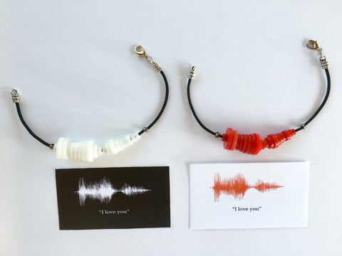"1-Color ""I Love You"" Sound-Wave Bracelet, Necklace, Keychain"