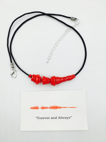 'Sound-Wave Necklace' Choose From 16 Different Colors!