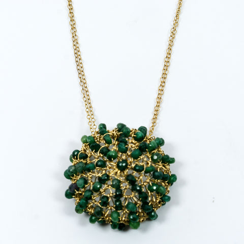 Emerald Crochet Necklace