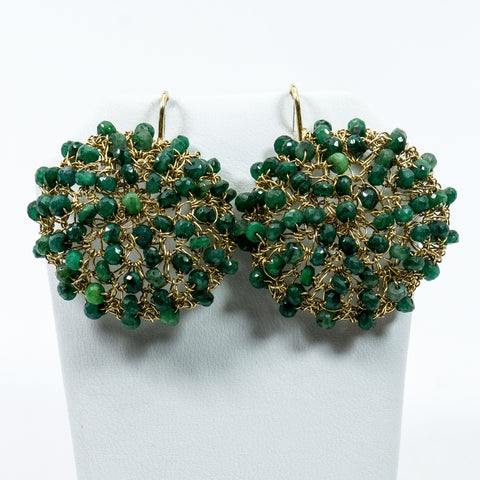 Emerald Crochet Earrings