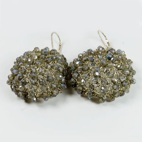 Mystic Labradorite Crochet Earrings