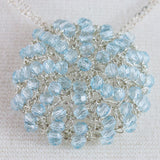 Blue Topaz Crochet Necklace
