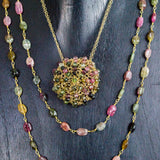 Tourmaline Crochet Necklace