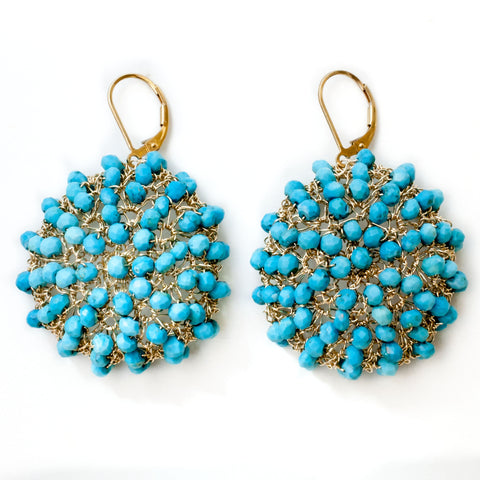 Arizona Turquoise Crochet Earrings