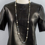 Mixed Stone, White Pearls and Pave Diamonds Beaded Necklace