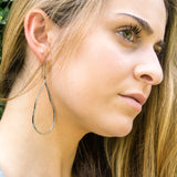 Organic Diamond Hoop Earrings