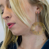 Pave Diamond Hoops and Stick Earrings