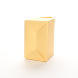 Bottom view of Lux Party's gold favor box on a white background.