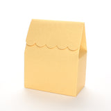 Gold favor box by Lux Party with a scalloped edge on a white background.