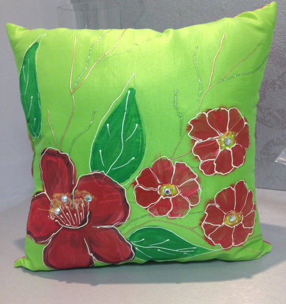 Floral Hand painted Pillows