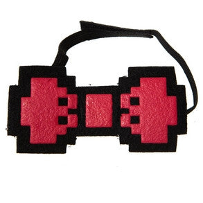 Red Pixel Bow Tie