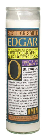 Edgar Allen Poe Secular Saint Candle