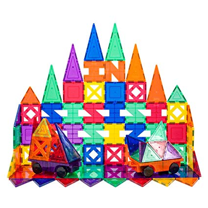 Picasso Tiles: Educational Magnetic Building Tiles-33 Pieces