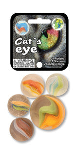 Marbles- Cats Eye Tri-Colored