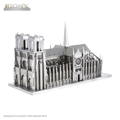 ICONX Metal Model  Notre Dame Paris