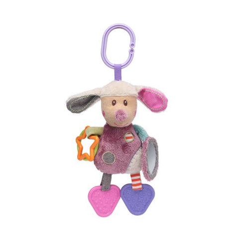 Activity Dog Toy with Mirror, Teether & Rattle