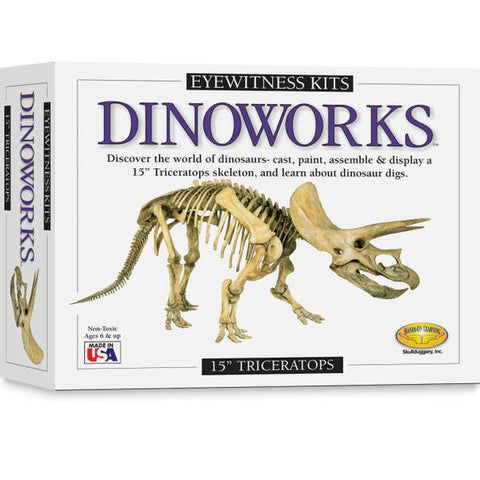 "Dinoworks- 15"" Triceratops"