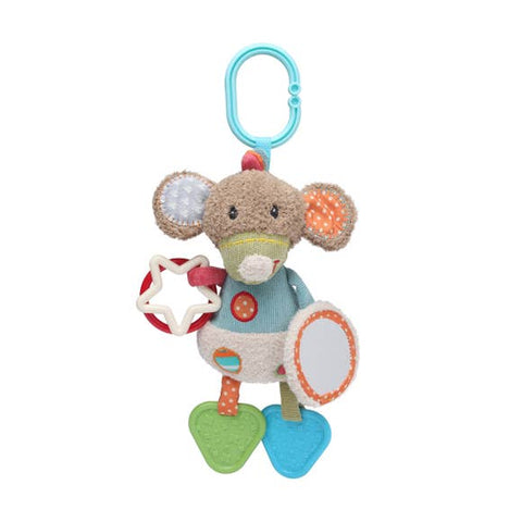 Activity Mouse Toy with Mirror, Teether & Rattle