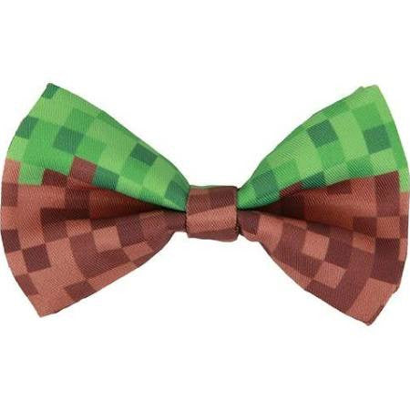 Pixel Bow Tie, Green and Brown
