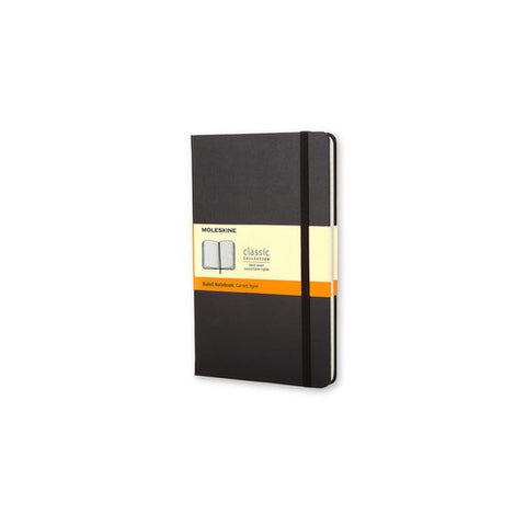 Moleskine Classic Hard Cover Ruled Notebook, Pocket Size