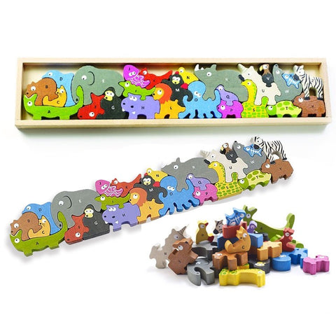 Animal Parade Alphabet Puzzle